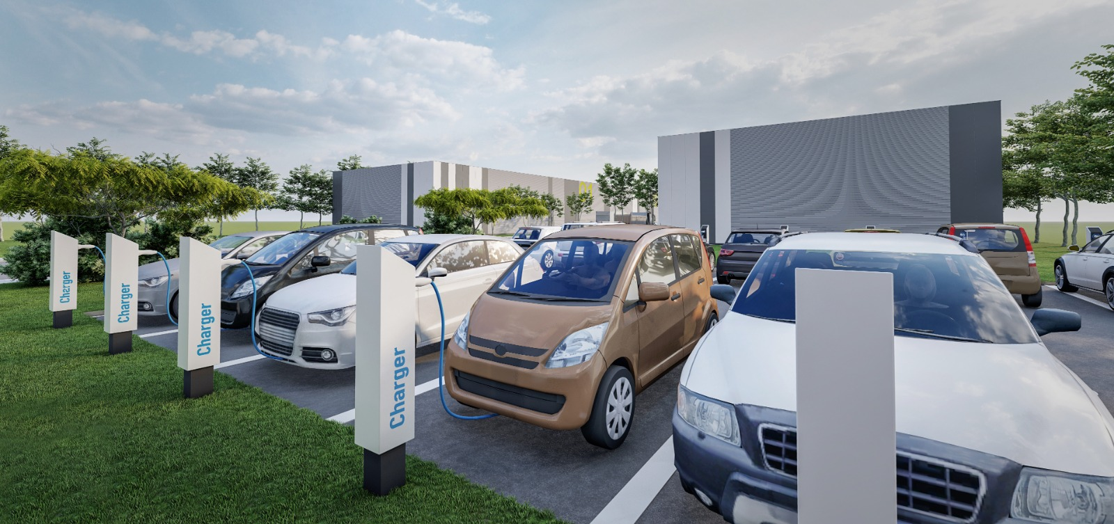 HUB fast-charge in parcul industrial Modulis